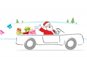 driving santa