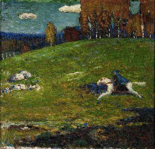 500px-Wassily_Kandinsky,_1903,_The_Blue_Rider_(Der_Blaue_Reiter),_oil_on_canvas,_52.1_x_54.6_cm,_Stiftung_Sammlung_E.G._Bührle,_Zurich