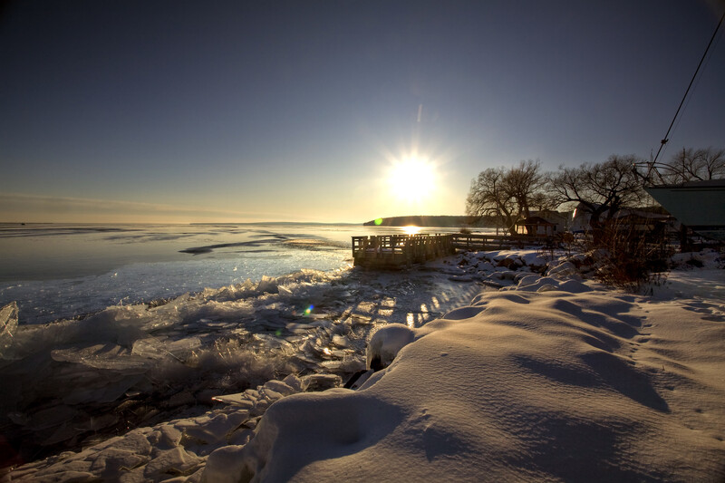 Winter scene on Lake Superior